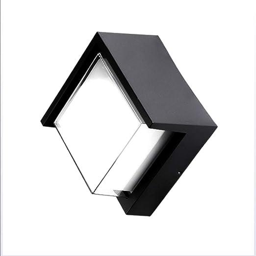 12W Lampara Aplique de Pared LED Exterior Impermeable, Aluminio ...
