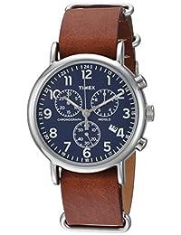 Reloj Timex Weekender Unisex  40mm, pulsera de Piel