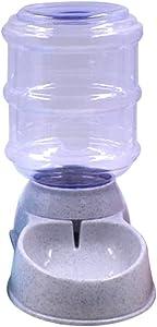 Blusea Automatic Pet Water Food Dispenser, 3.8L Large Capacity Self-Dispensing Gravity Pet Feeder Waterer Cat Dog Feeding Bowl Drinking Water/Automatic Feeding Pet Supplies (2, Grey)