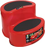 Disney Cars 2-Step Step Stool - Durable Construction - Non-Slip Surface and Feet - Lightweight - Red - 18 Inches x 14 Inches x 8 Inches