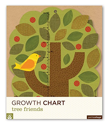 - Petit Collage Folding Growth Chart, Tree Friends