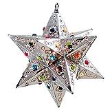 Fiesta Star Light Pendant, Silver, Multi Colored Marbles 12 in