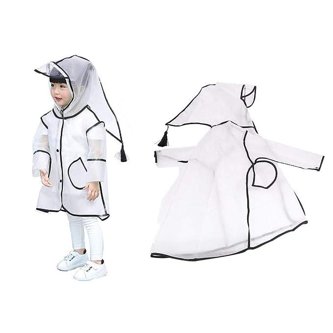 a1f03854a Amazon.com  SSAWcasa Clear Kids Raincoat with Hood