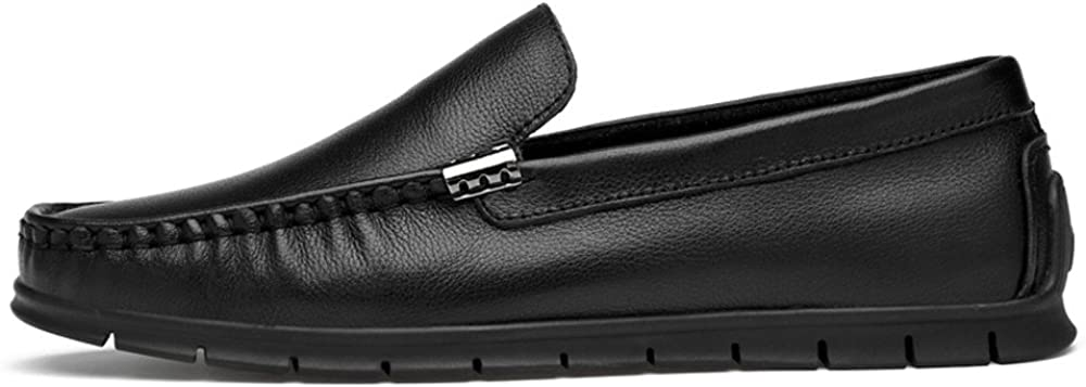 Gobling Mens Solid Color Casual Loafer PU Leather Anti-Slip Soft Boat Shoes Slip on Driving Penny Moccasins