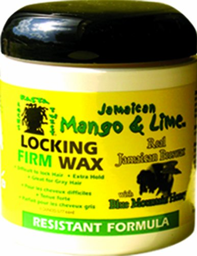 Jamaican Mango & Lime Resistant Formula Locking Firm Wax, 6 Ounce (Wax Twists)