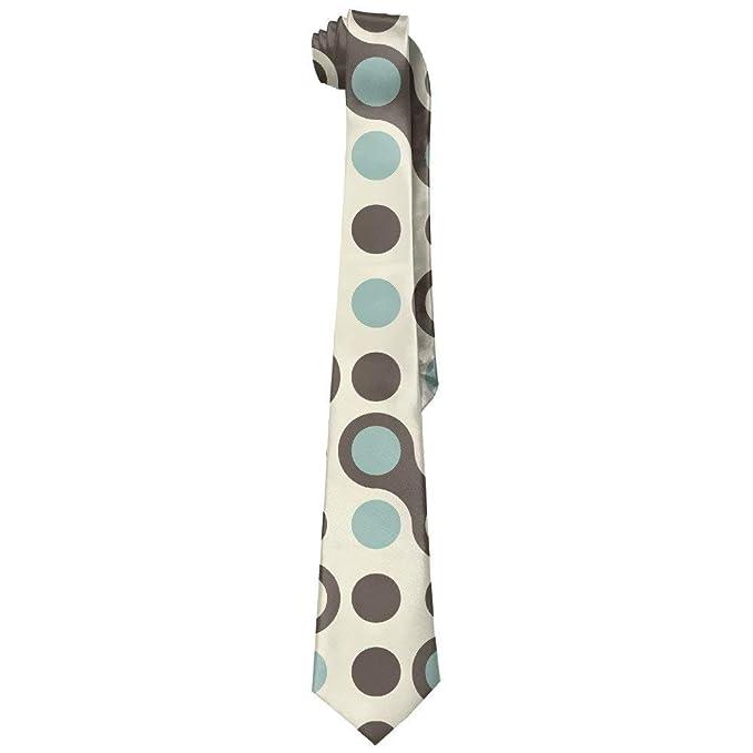 f4a4b2caaf39 Retro Blue Grey Brown Men's Classic Polyester Solid Silk Tie Necktie ...