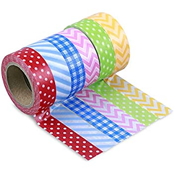 LolliZ Washi Tape - Picnic Party Set with Six Rolls of Fun and Festive Colors