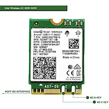 Wireless Network Adapter for Laptop and Desktop PCs–NGFF M2 2230 Wi-Fi Card-2.4GHz 300Mbps or 5GHz 1733Mbps(160MHz) Bluetooth 5.0-Dual Band Wireless ...