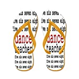 CafePress Dance Teacher - Flip Flops, Funny Thong Sandals, Beach Sandals