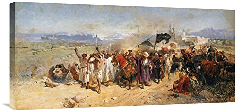 Global Gallery GCS-265497-30-142 ''Nikolai Semenovich Samokish Shi'Ite Muslims Commemorating The Martyrdom Of Hussein'' Gallery Wrap Giclee on Canvas Print Wall Art by Global Gallery