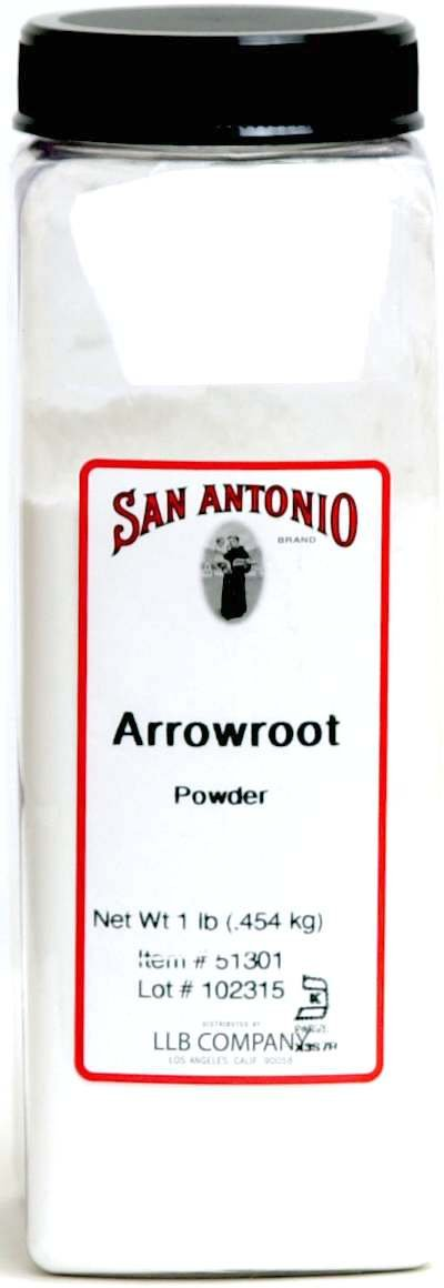 1-Pound Premium Ground Arrowroot Powder / Starch / Flour, (Maranta arundinacea)