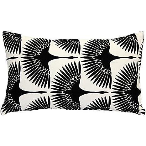 Amazon.com: Almohada decor – invierno flock blanco y negro ...