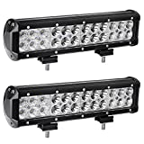 12inch Led Light Bar,Spot Flood Combo Off Road Driving Led Light Bar,Waterproof for Jeep ATV AWD SUV 4WD 4x4 Pickup Trucks Boat, 72W, 7200LM,Pack of 2