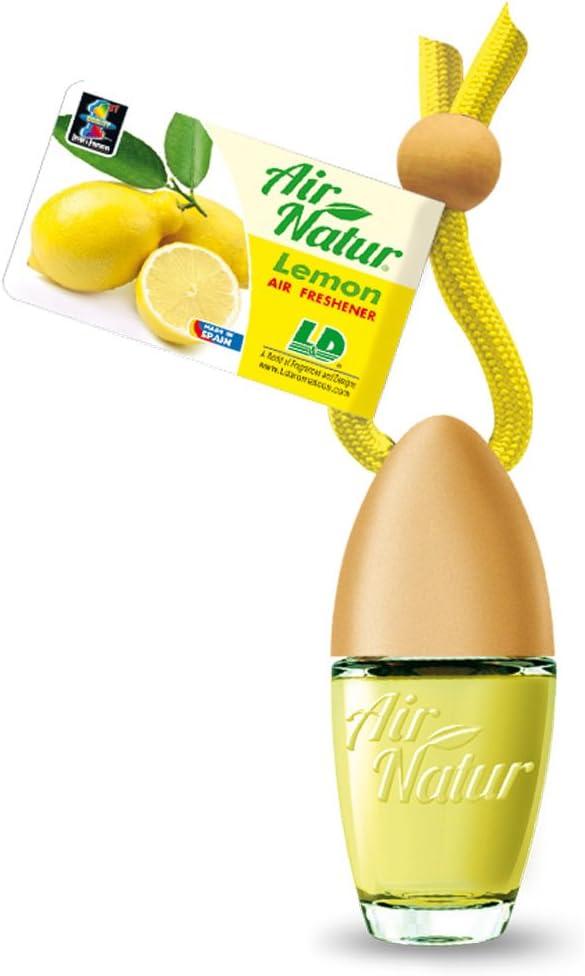 Air Natur 5 Stück Stylische Duftflakons Fürs Auto Und Zuhause Autoduft Raumduft Lufterfrischer Lemon Zitrone Auto