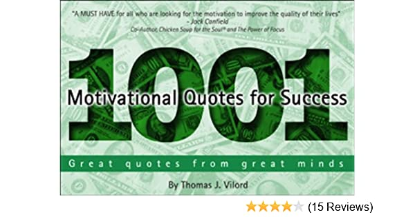 Amazon 1001 Motivational Quotes For Success Ebook Thomas