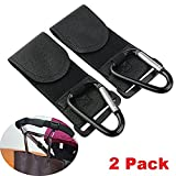 Stroller Hook - 2 Pack of Multi Purpose Hooks - Hanger for Baby Diaper Bags, Groceries, Clothing, Purse - Great Accessory for Mommy when Jogging, Walking or Shopping
