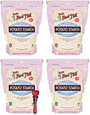 Bob's Red Mill Gluten Free Potato Starch 22 Ounce Bundle with Swivel Measuring Spoons by Westkitch (4 Pack)