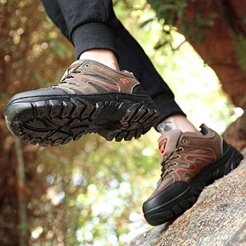 ウォーキングシューズ男性は完全防水屋外ハイキング/トレッキングクライミングアプローチ軽量通気性・トレイルは、トレーナーランニングシューズ (Color : Army green, Size : 43)