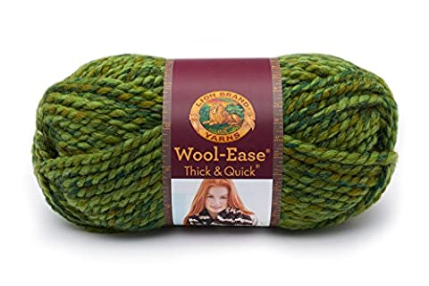 Lion 640-531 Wool-Ease Thick & Quick Yarn , 97 Meters, Spearmint - Quick Yarn Barley