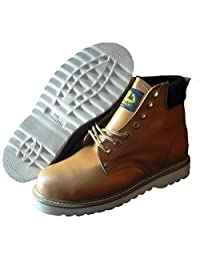 Goldwater Professional Nonslip Steel Toe Water and Oil Resistant Men's Work Boot Shoe