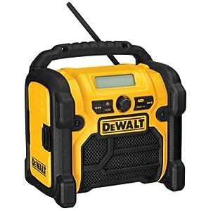 12. DEWALT DCR018 18V/12V/20V MAX Compact Worksite Radio
