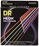 DR Strings NMCA-10 Coated Phosphor Bronze Acoustic Guitar Strings, Extra Light