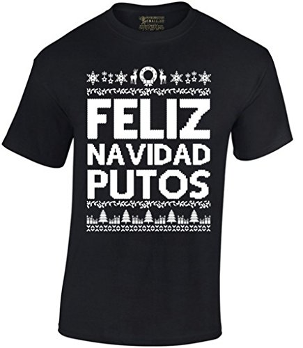 Awkward Styles Feliz Navidad Putos Christmas T-Shirt XL Black