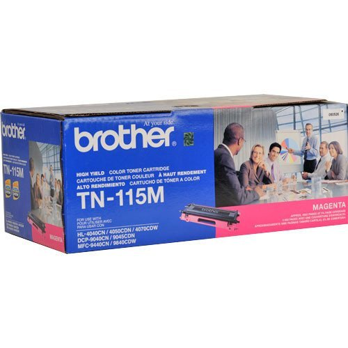 Brother TN115M High-Yield Toner Cartridge, Magenta - in Retail Packaging
