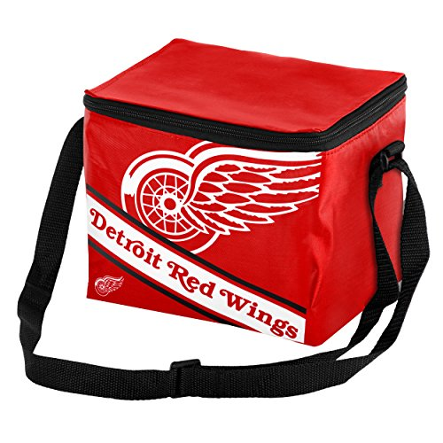 fan products of Detroit Red Wings Big Logo Stripe 6 Pack Cooler
