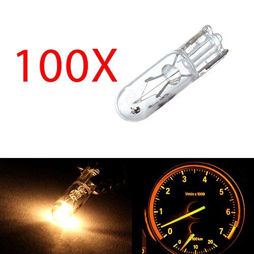cciyu 100 pcs Car T5 Halogen Bulbs Replacement fit for