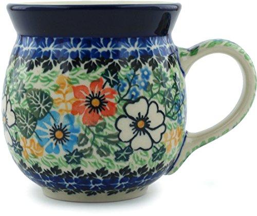 Polish Pottery Bubble Mug 16 oz Glorious Concept UNIKAT made by Ceramika Artystyczna (Artystyczna Ceramika Polish Stoneware)