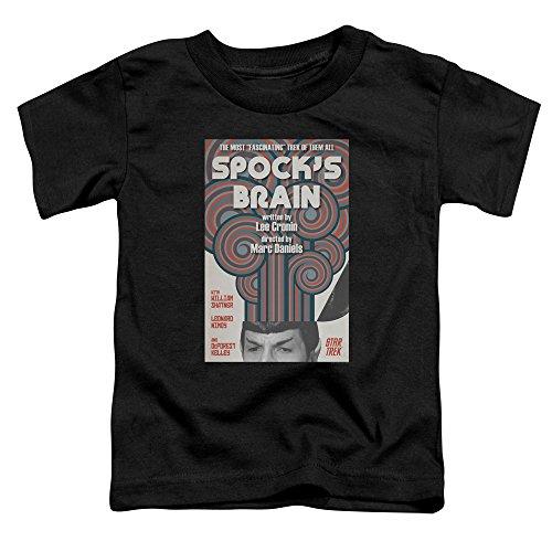 Star Trek Spock's Brain Juan Ortiz Poster Unisex Toddler T Shirt For Boys and Girls