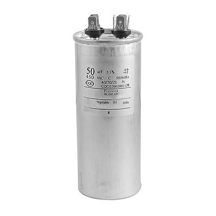 SODIAL(R) CBB65A-1 50uF AC 450V Condensador del motor para motor del