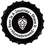 Beer Is A Journey- Beer Bottle Crown Caps- Oxygen Absorbing for Homebrew- 144 Count