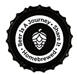 #3: Beer Is A Journey- Beer Bottle Crown Caps- Oxygen Absorbing for Homebrew- 144 Count