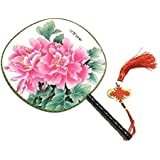 Attractive Chinese Round Fan Classical Dancing Dan With Beautiful Pattern, #9