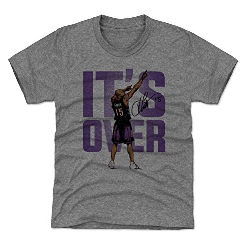 Basketball Carter Vince (500 LEVEL Toronto Basketball Youth Shirt - Kids Medium (8Y) Tri Gray - Vince Carter Point P)