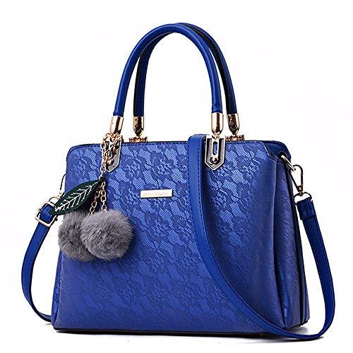 Flores Azul Bolso Colgante Damas Gxinyanlong azul Encaje Hombro Bolso De vXzw7
