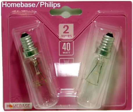 Philips - Bombillas para campana extractora, 40 W, E14, 240 V SES, 2 unidades: Amazon.es: Iluminación