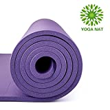 """Yoga Nat Yoga Mat, Mat 2/5"""" Thickness 72"""" Long 24"""" Wide NBR Multiple Use Exercise and Yoga Mat..."""