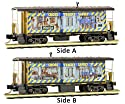 micro-trains MTL n-scale Bay Window Caboose CSX/Operation Lifesaver Weathered