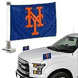 ProMark New York Mets 2-Pack Ambassador Style Auto Flag Car Banner Set Baseball