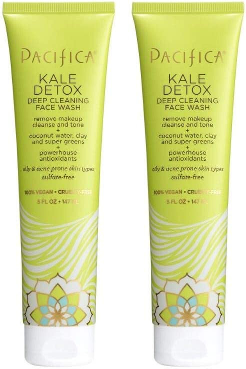 Pacifica Beauty Kale Detox Deep Cleansing Face Wash, 5 Fl Oz, Pack of 2