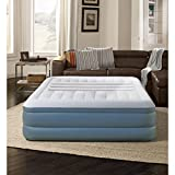 Lumbar Lux AirBed Mattress Raised with Built-In Pump, Queen