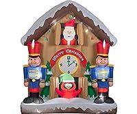 Christmas Inflatable Animated Santa Cuck...