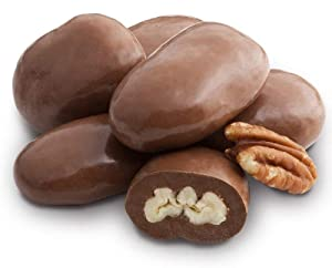 Andy Anand Belgian Milk Chocolate Pecans Delectable in Amazing-Delicious-Decadent, Gift Boxed & Greeting Card, Birthday, Valentine, Christmas, Mothers Fathers day, Gourmet Foods (2 lbs)