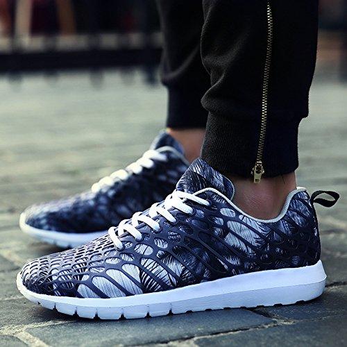 Unisex Sneakers Straßen Laufschuhe Sportschuhe Low-Top Freizeitschuhe Turnschuhe Atmungsaktive Mesh Fitness-Shake Schuhe für Damen Herren Couples Größr 35-46 von QIMAOO Grau