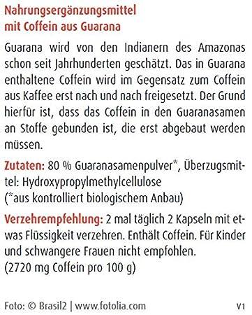 Raab - Cápsulas de Guaraná Raab, 80 ud.: Amazon.es: Salud y cuidado personal