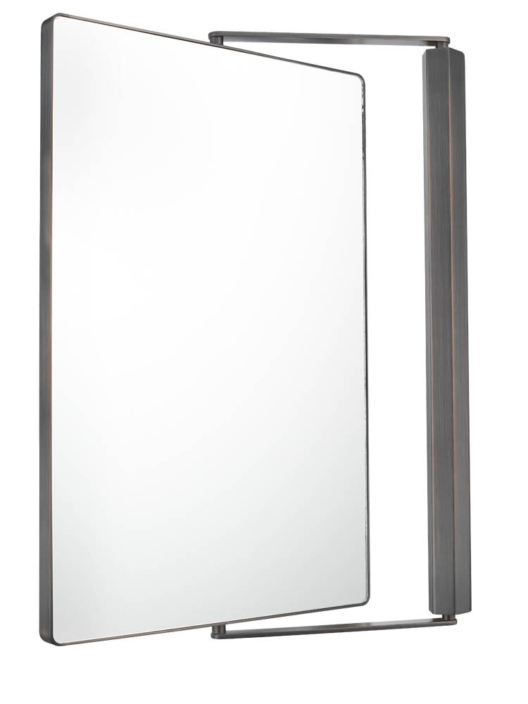 Amazon Aptations 33071 Sergena Metro Pivot Mirror Brushed Nickel Home Kitchen