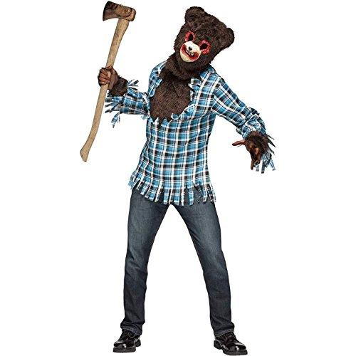 [Blood Bear Adult Mens Costume, Standard Size] (Stuffed Bear Costume)